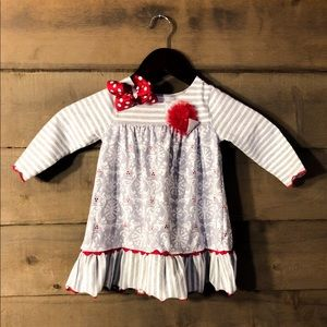 Bonny baby 18 months dress with bloomers & bow